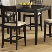 Hillsdale Bayberry Glenmary 42 Square Counter Height Dining Table in Cherry