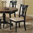 ADD TO YOUR SET: Hillsdale Embassy Dining Chairs in Rubbed Black (set of 2)