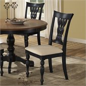 Hillsdale Embassy Dining Chairs in Rubbed Black (set of 2)
