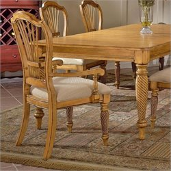 Hillsdale Furniture Wilshire Fabric Arm Dining Chair (Set of 2)