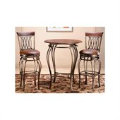 Hillsdale Montello Pub Table and 2 Bar Stools Bistro Set