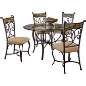 Hillsdale Pompei 5 Piece Round Dining Table Set