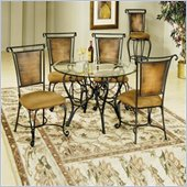 Hillsdale Milan 5 Piece Round Dining Table Set