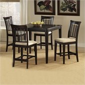 Hillsdale Bayberry 5 Piece Cherry Counter Height Dining Table Set in Dark Cherry