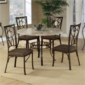 Hillsdale Brookside 5 Piece Stone Top Round Dinette Set