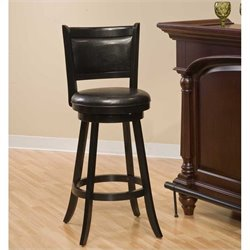 Hillsdale Dennery 24 Swivel Counter Stool in Black