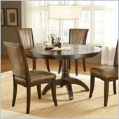 Hillsdale Grand Bay Round Pedestal Dining Table in Cherry Finish