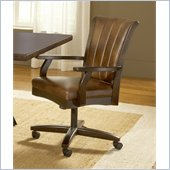 Hillsdale Grand Bay Dining Arm Chair with Casters in Cherry Finish
