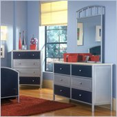 Hillsdale Universal Youth Double Dresser and Mirror Set
