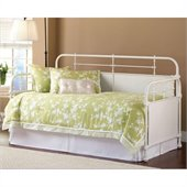 Hillsdale Kensington Metal Daybed in Textured White Finish