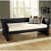 Hillsdale Malibu Daybed in Brown Bi-Cast Leather