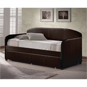 Hillsdale Springfield Daybed in Brown Faux Leather