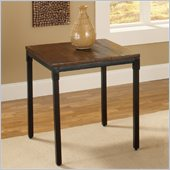 Hillsdale Granada End Table in Dark Chestnut/Brown