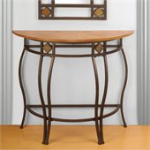 Hillsdale Lakeview Console Table in Brown / Medium Oak Finished  Wood