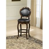 Hillsdale Alaina 24 Swivel Counter Stool in Distressed Cherry