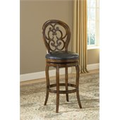 Hillsdale Alexandra 30 Swivel Bar Stool in Dark Tobacco