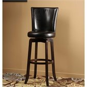 Hillsdale Copenhagen 26 Swivel Counter Stool in Black Vinyl/Espresso
