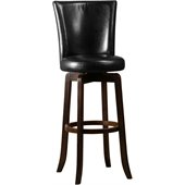Hillsdale Copenhagen 30 Swivel Bar Stool in Black Vinyl/Espresso