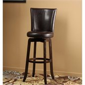 Hillsdale Copenhagen 26 Swivel Counter Stool in Brown Vinyl/Espresso
