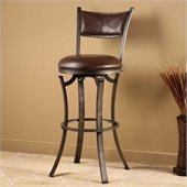 Hillsdale Drummond 26 Swivel Counter Stool in Rubbed Pewter