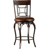 Hillsdale Granada 26 Swivel Counter Stool in Dark Chestnut/Brown