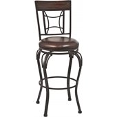 Hillsdale Granada 30 Swivel Bar Stool in Dark Chestnut/Brown