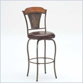 Hillsdale Huntington 26 Swivel Counter Stool in Chestnut Brown