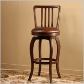 Hillsdale Kayden 26 Swivel Counter Stool in Antique Brown