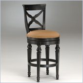 Hillsdale Northern Heights 30 Swivel Bar Stool in Black/Honey