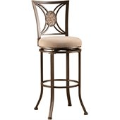Hillsdale Rowan 26 Swivel Counter Stool in Silver Brown