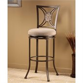 Hillsdale Rowan 30 Swivel Bar Stool in Silver Brown