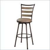 Hillsdale Thornhill 24 Swivel Counter Stool in Pewter / Black Rub