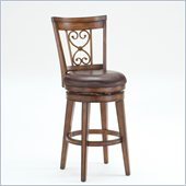 Hillsdale Villagio 26 Swivel Scroll Back Counter Stool in Chestnut