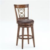 Hillsdale Villagio 30 Swivel Scroll Back Bar Stool in Chestnut