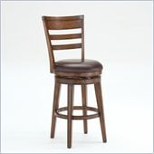 Hillsdale Villagio 30 Swivel Ladder Back Bar Stool in Chestnut