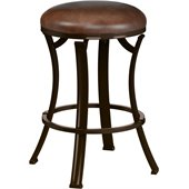 Hillsdale Kelford 26 Backless Swivel Counter Stool in Antique Bronze