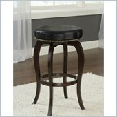 Hillsdale Wilmington 25.5  Swivel Counter Stool in Black/Cappuccino