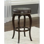 Hillsdale Wilmington 25.5  Swivel Counter Stool in Brown/Cappuccino