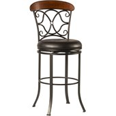 Hillsdale Dundee 26 Swivel Counter Stool in Dark Coffee