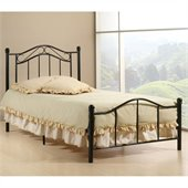 Hillsdale Gavin Twin Bed in Matte Black