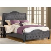 Hillsdale Trieste Fabric Bed in Pewter