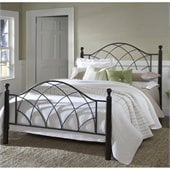 Hillsdale Vista Bed in Silver and Espresso