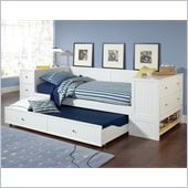 Hillsdale Cody Daybed with Trundle and End Chest/Bookcase in White