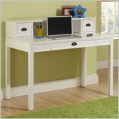 Hillsdale Cody Desk with Hutch in White