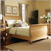 Hillsdale Hamptons Sleigh Bed in Weathered Pine