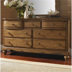 Hillsdale Hamptons 7 Drawer Dresser in Weathered Pine