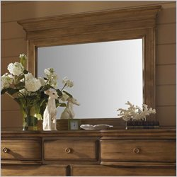 Hillsdale Hamptons Rectangular Dresser Mirror in Weathered Pine