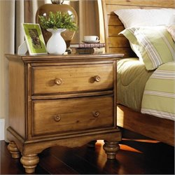 Hillsdale Hamptons 2 Drawer Nightstand in Weathered Pine