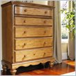 ADD TO YOUR SET: Hillsdale Hamptons 5 Drawer Chest in Weathered Pine