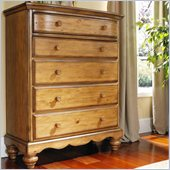 Hillsdale Hamptons 5 Drawer Chest in Weathered Pine